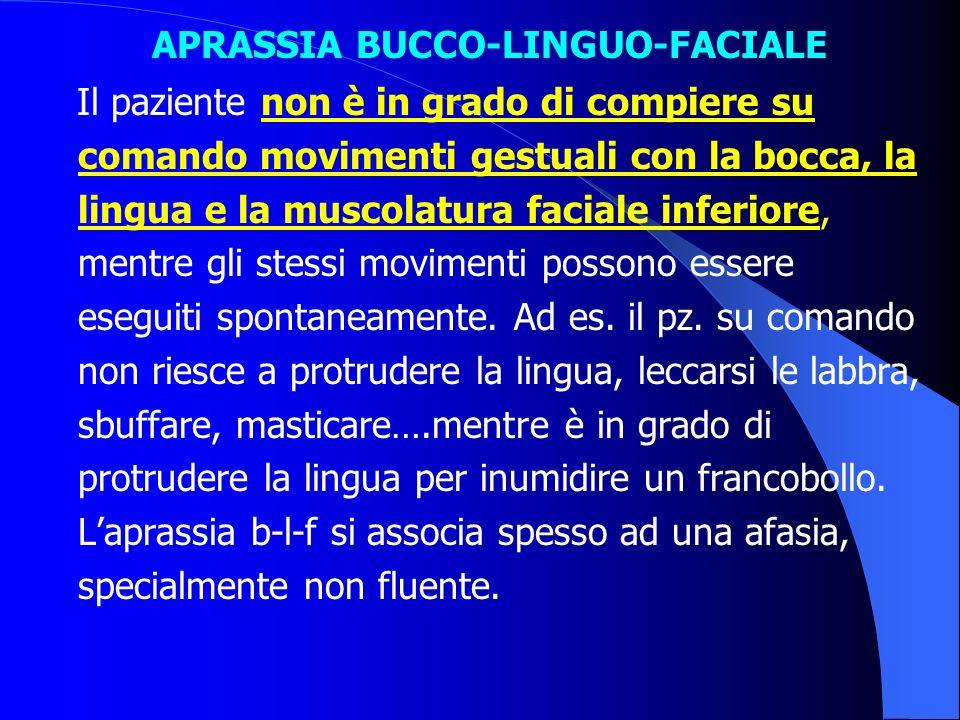 APRASSIA BUCCO-LINGUO-FACIALE