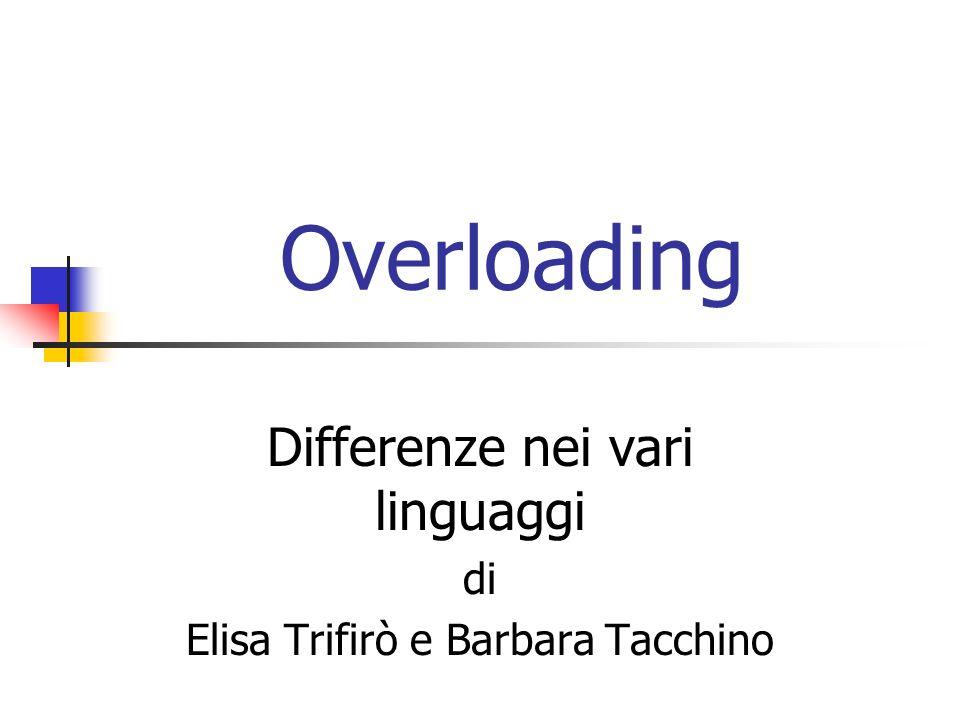 Differenze nei vari linguaggi di Elisa Trifirò e Barbara Tacchino
