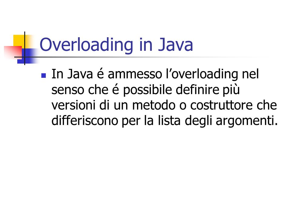 Overloading in Java