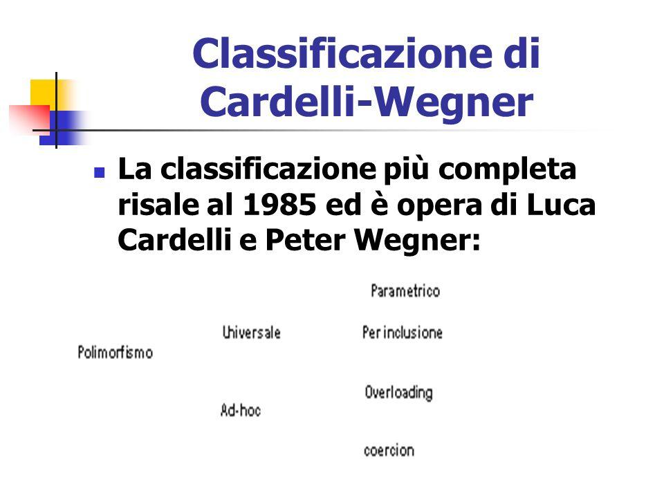 Classificazione di Cardelli-Wegner