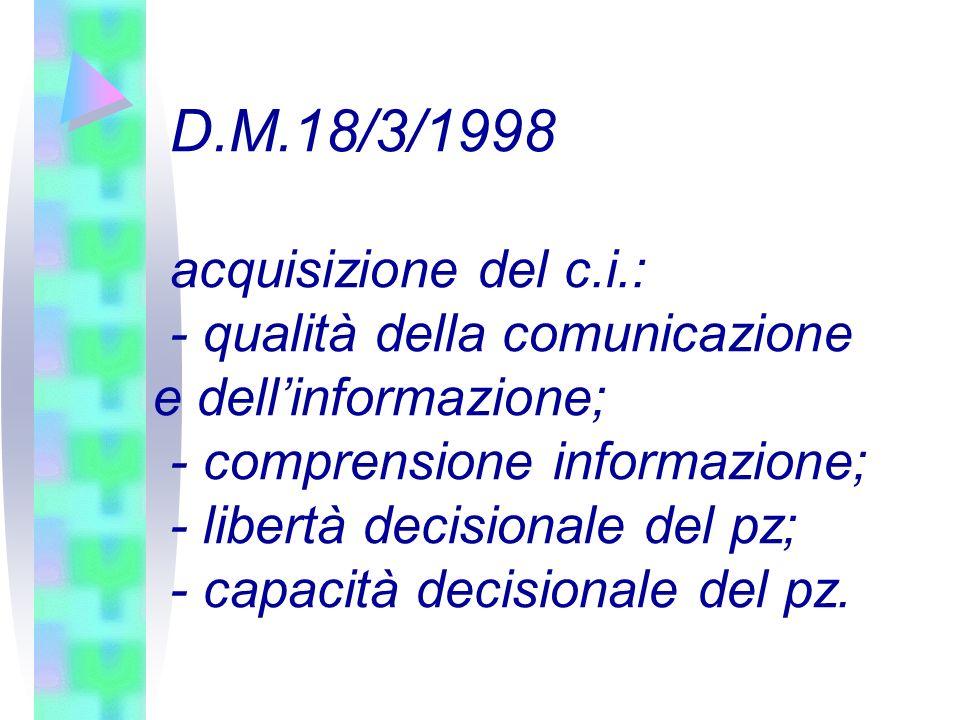 - qualità della comunicazione e dell'informazione;
