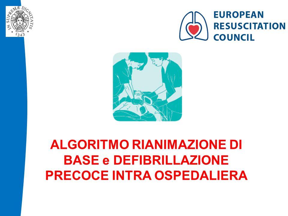 ALGORITMO RIANIMAZIONE DI BASE e DEFIBRILLAZIONE PRECOCE INTRA OSPEDALIERA