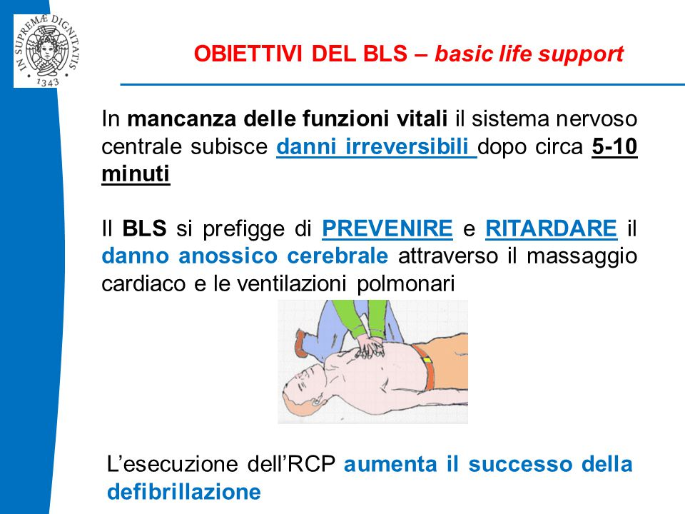 OBIETTIVI DEL BLS – basic life support