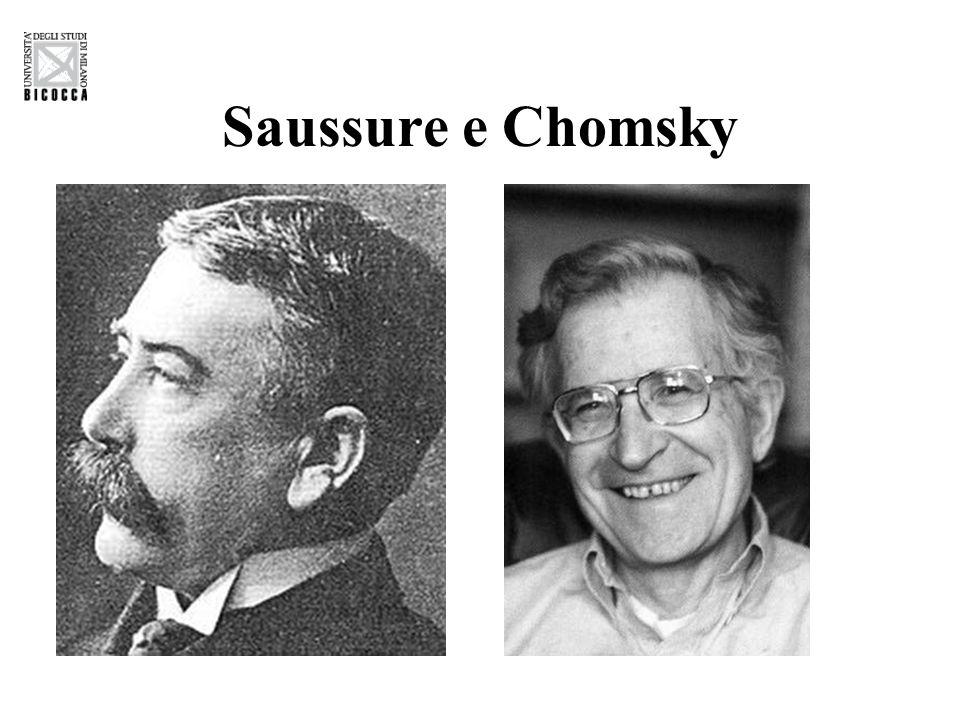 Saussure e Chomsky