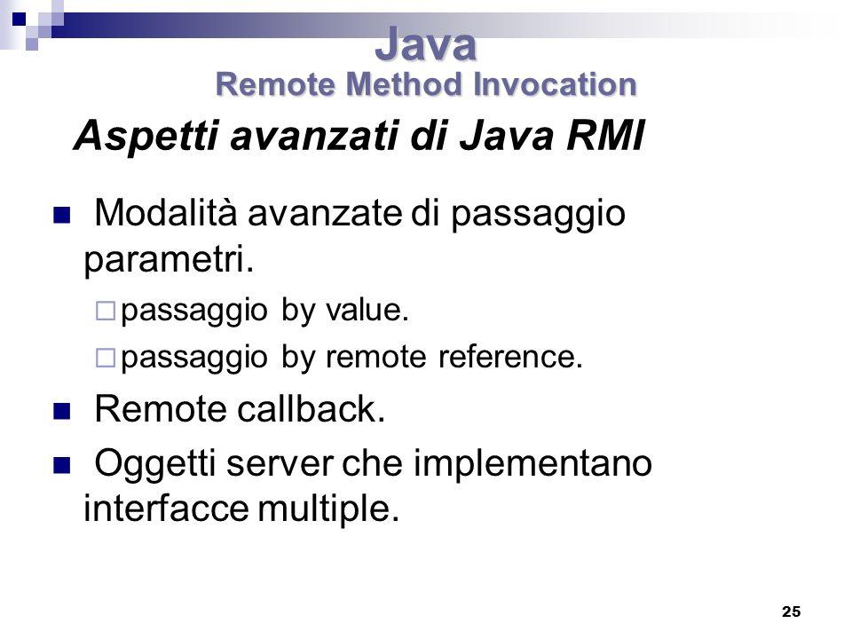 Aspetti avanzati di Java RMI