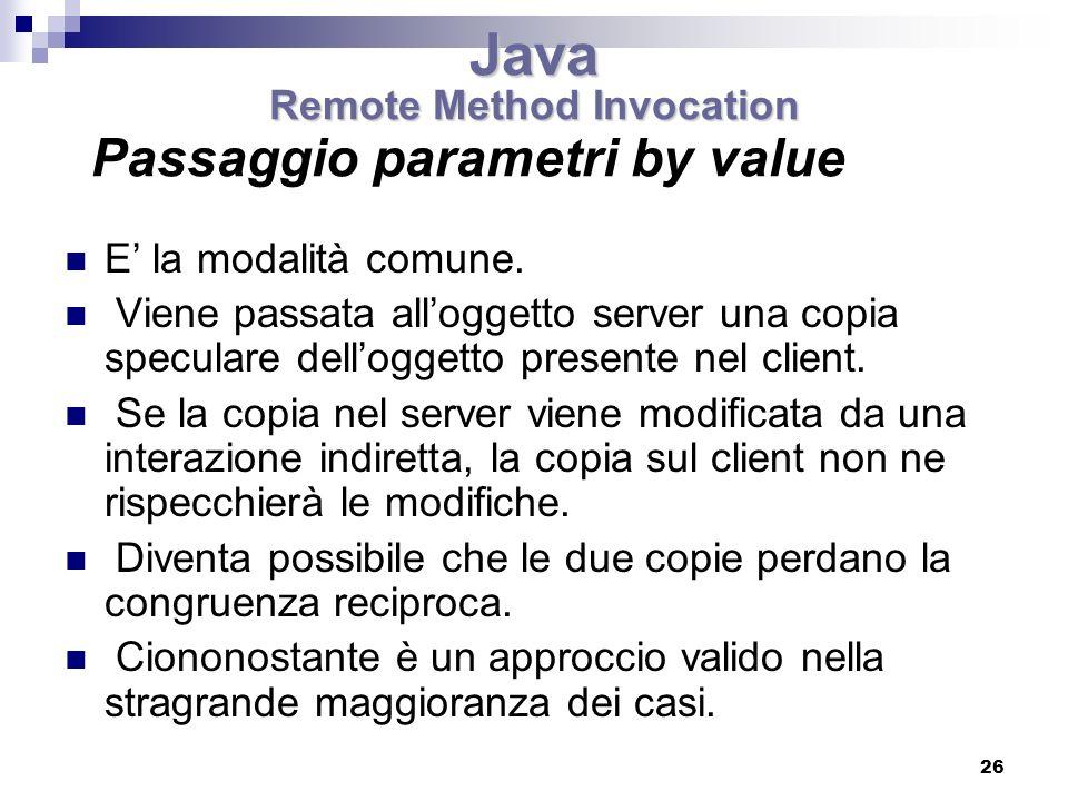 Passaggio parametri by value