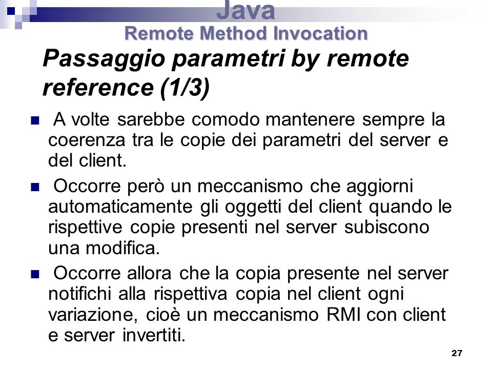 Passaggio parametri by remote reference (1/3)