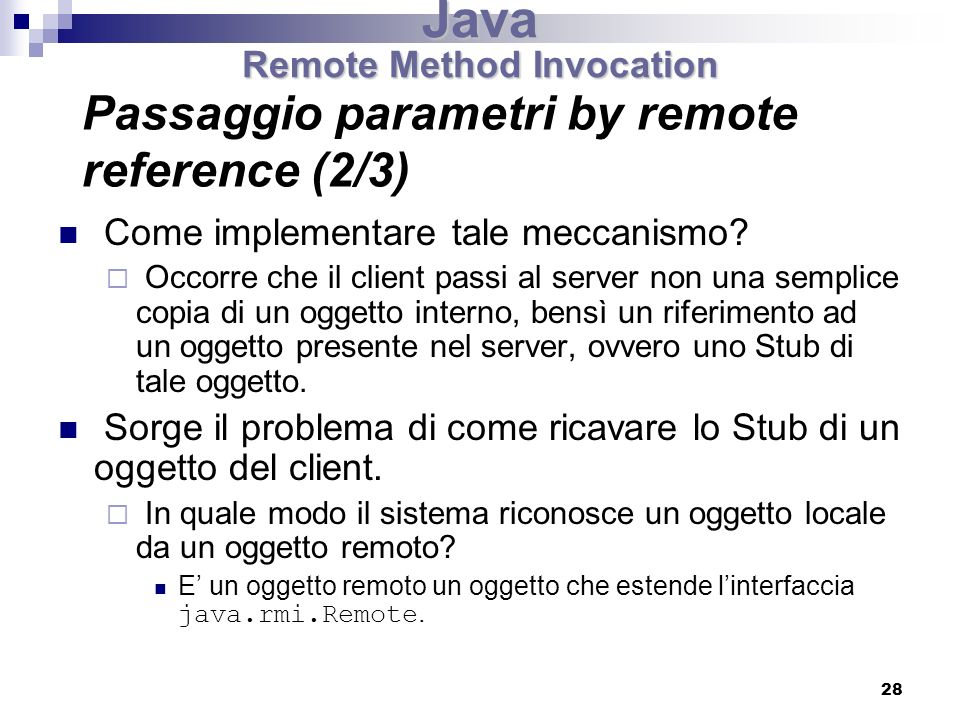 Passaggio parametri by remote reference (2/3)