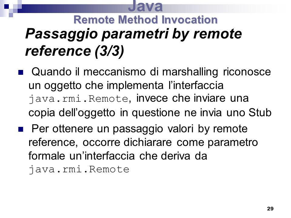 Passaggio parametri by remote reference (3/3)