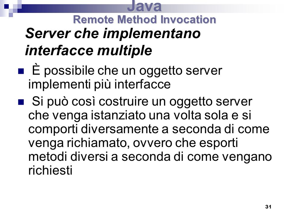 Server che implementano interfacce multiple