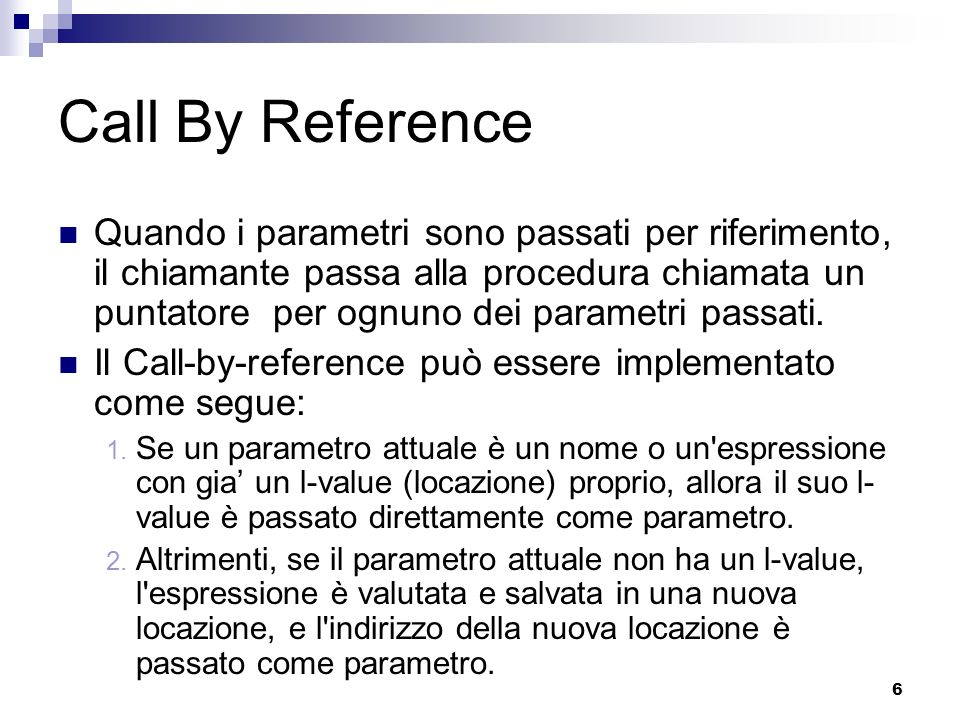 Call By Reference