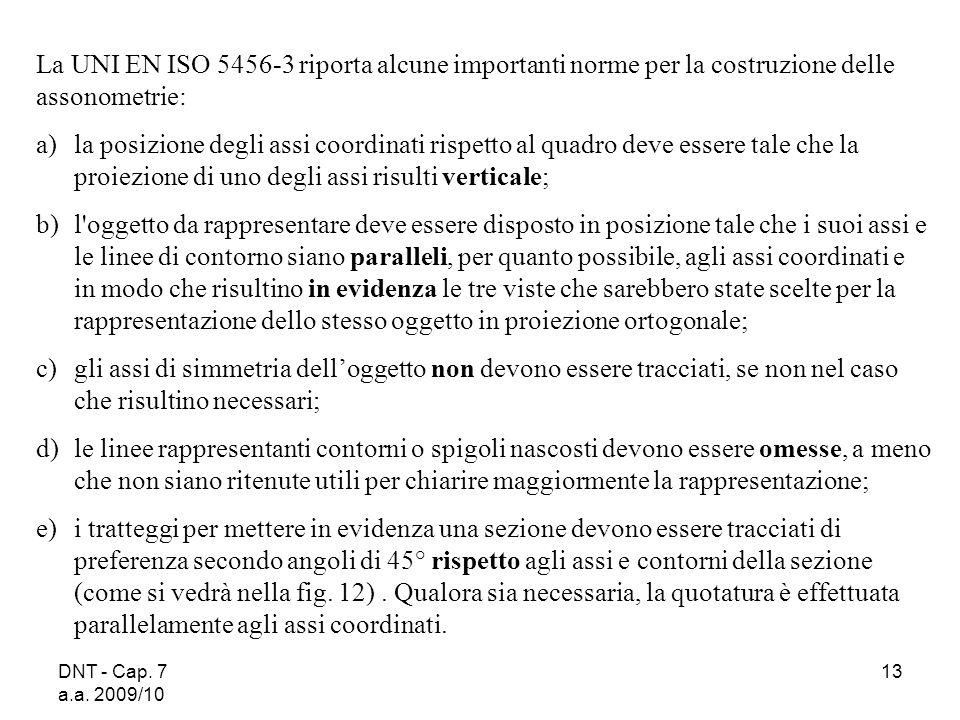 La UNI EN ISO 5456‑3 riporta alcune importanti norme per la costruzione delle