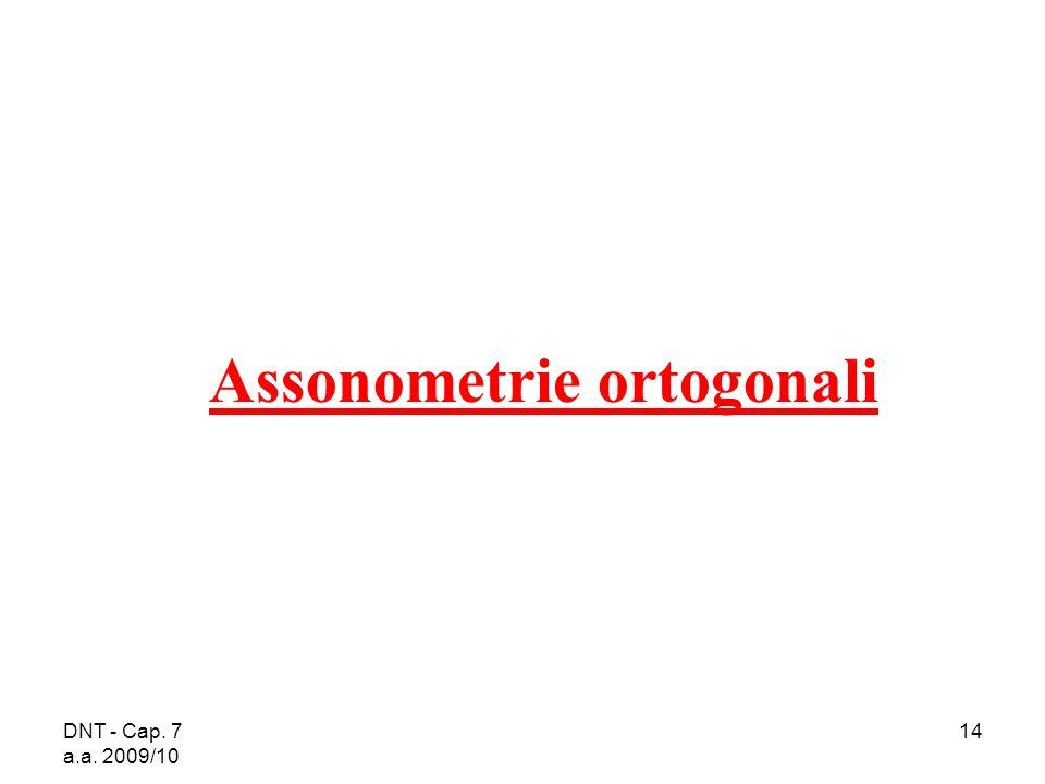 Assonometrie ortogonali