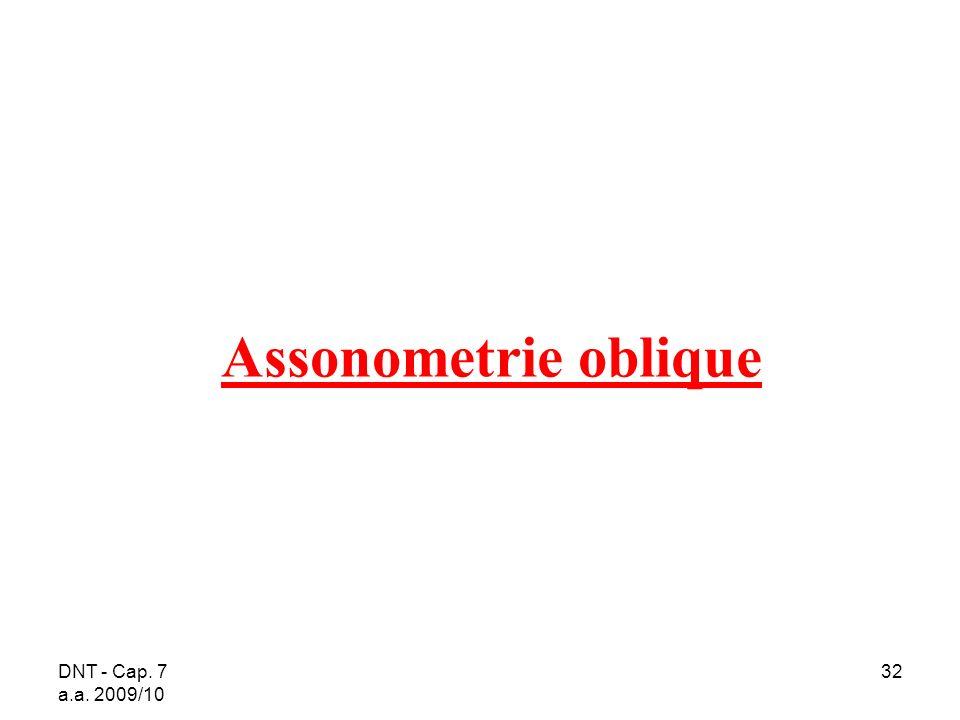 Assonometrie oblique DNT - Cap. 7 a.a. 2009/10