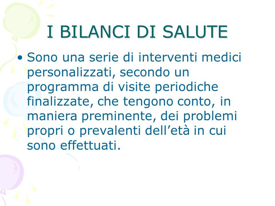 I BILANCI DI SALUTE