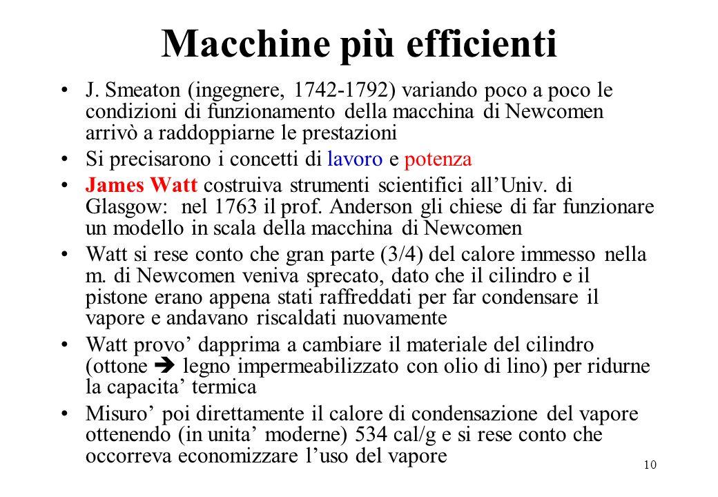 Macchine più efficienti