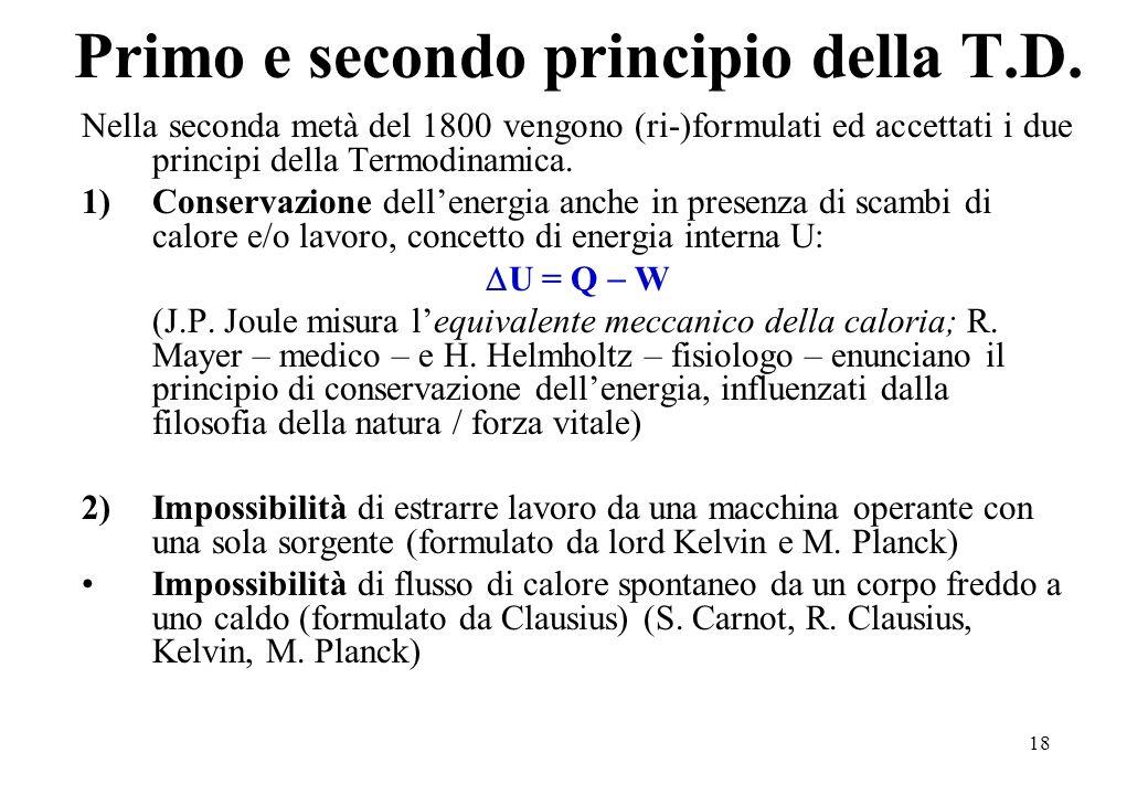 Primo e secondo principio della T.D.