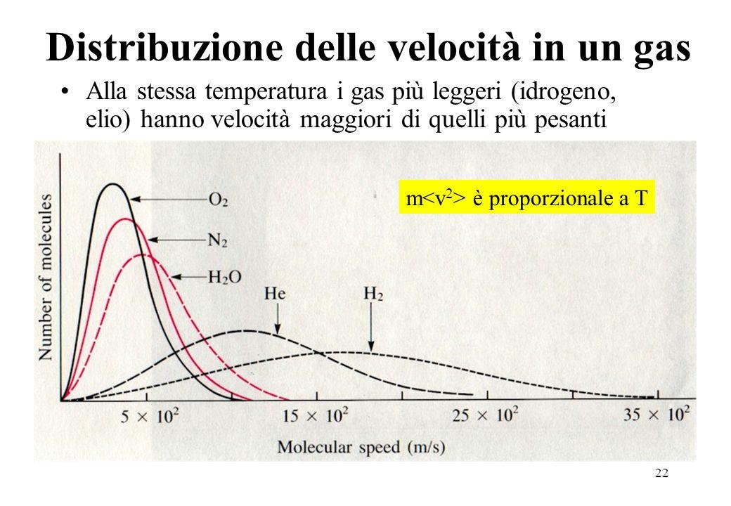 Distribuzione delle velocità in un gas