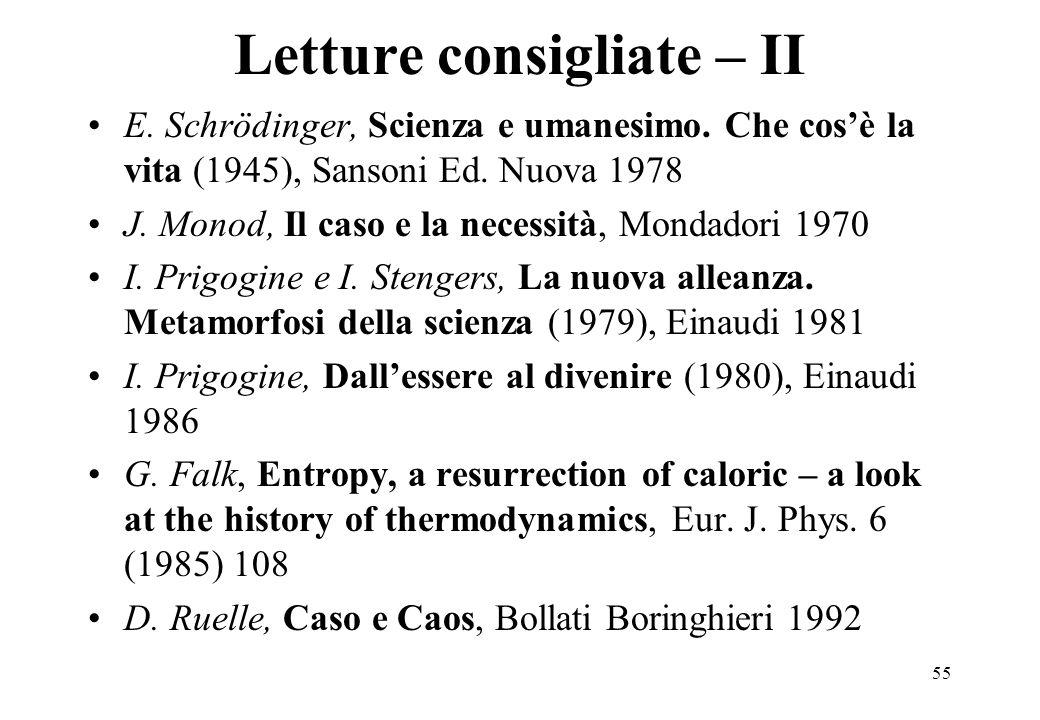 Letture consigliate – II