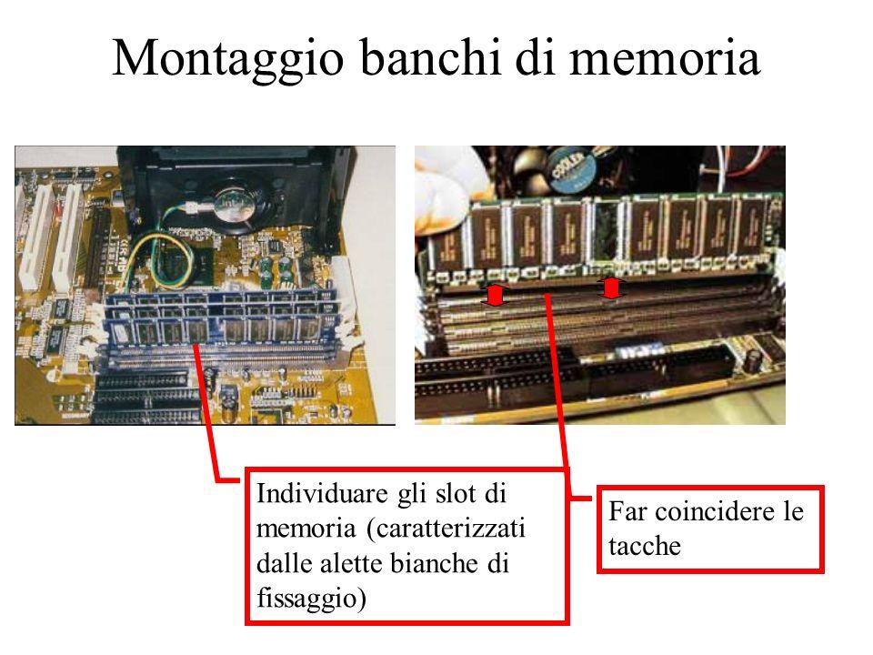 Montaggio banchi di memoria