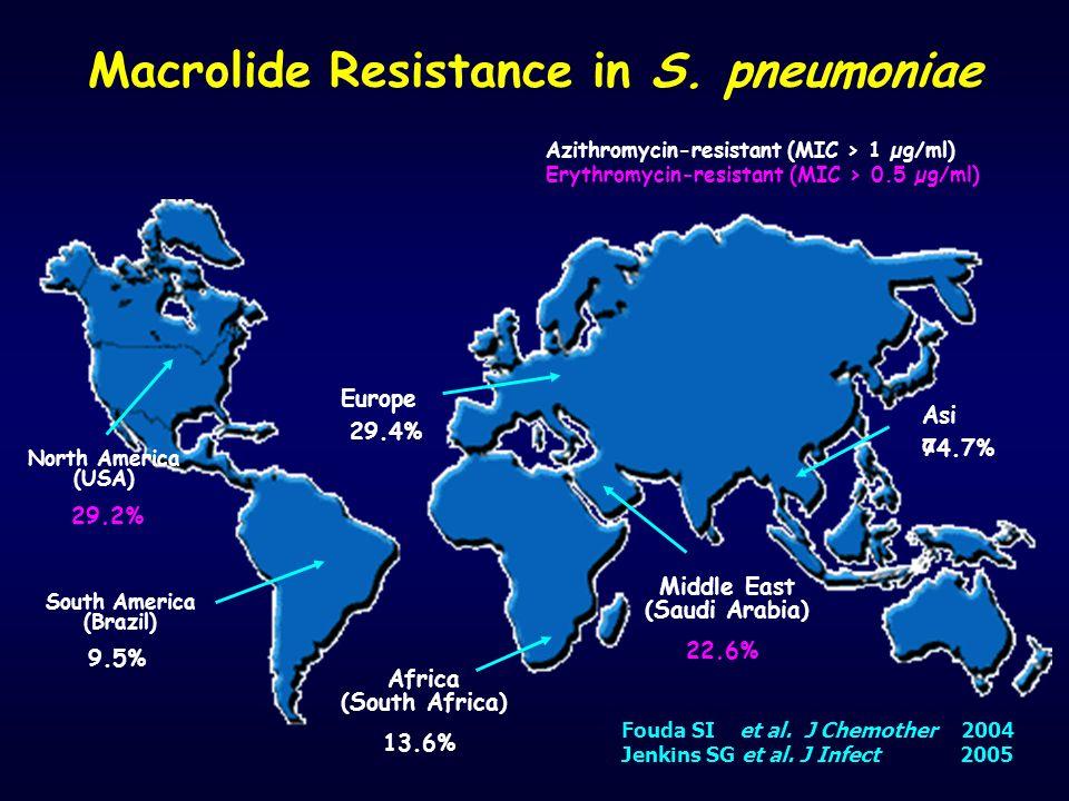 Macrolide Resistance in S. pneumoniae