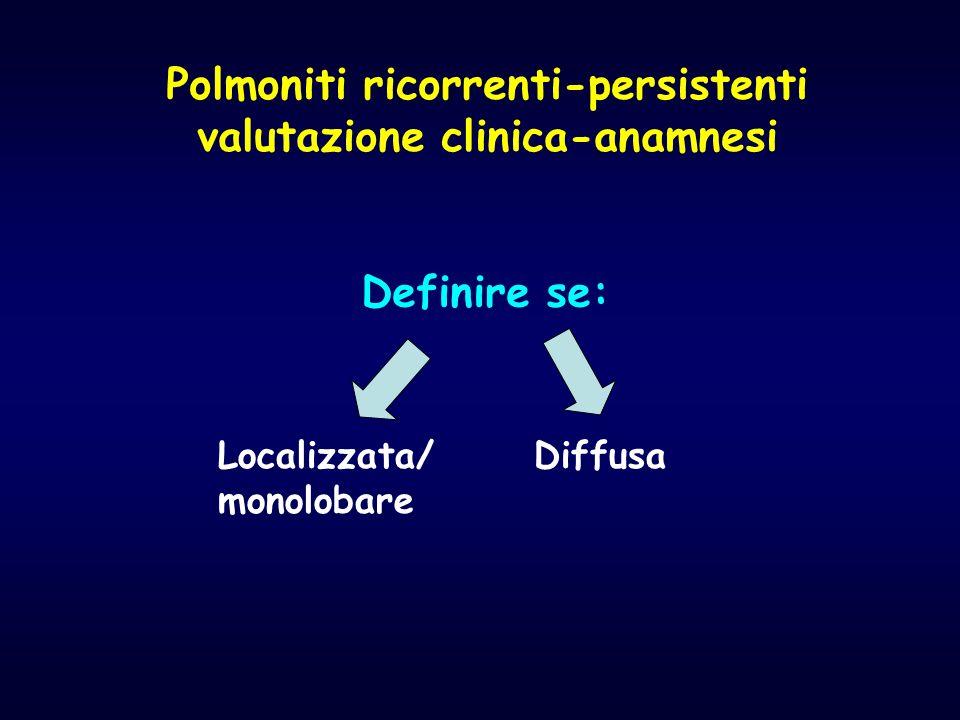 Polmoniti ricorrenti-persistenti valutazione clinica-anamnesi