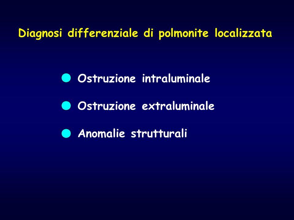 Diagnosi differenziale di polmonite localizzata