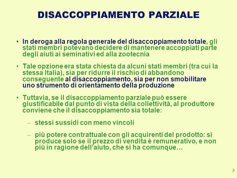 DISACCOPPIAMENTO PARZIALE