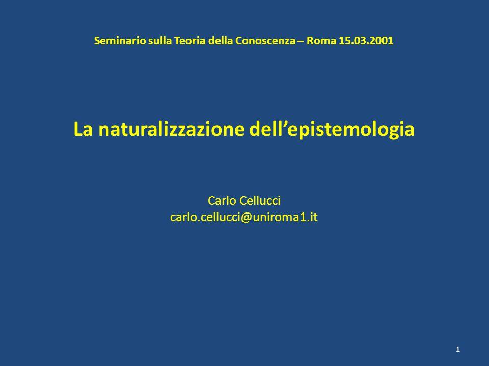 La naturalizzazione dell'epistemologia