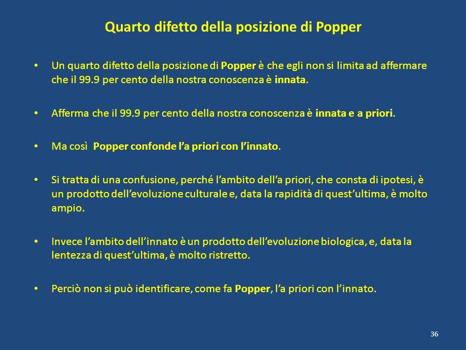 Quarto difetto della posizione di Popper