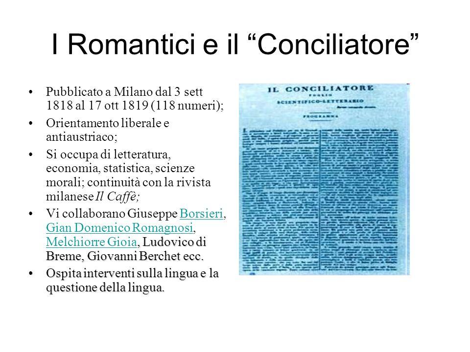 I Romantici e il Conciliatore