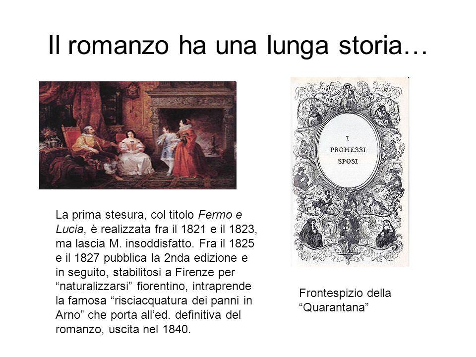 Il romanzo ha una lunga storia…