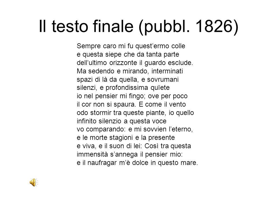 Il testo finale (pubbl. 1826)
