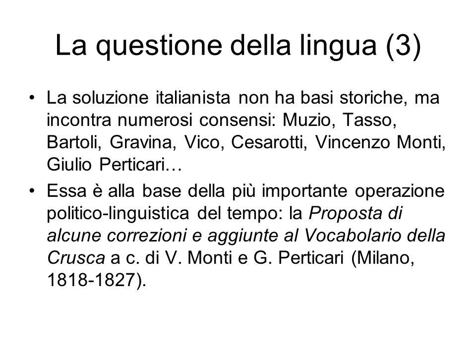 La questione della lingua (3)