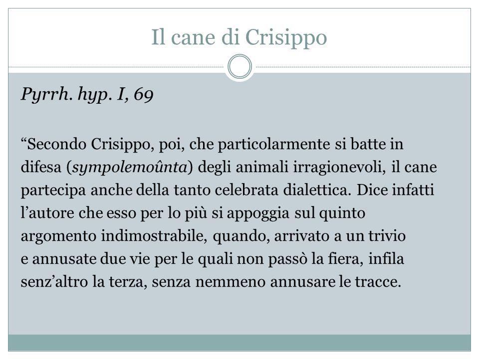 Il cane di Crisippo Pyrrh. hyp. I, 69