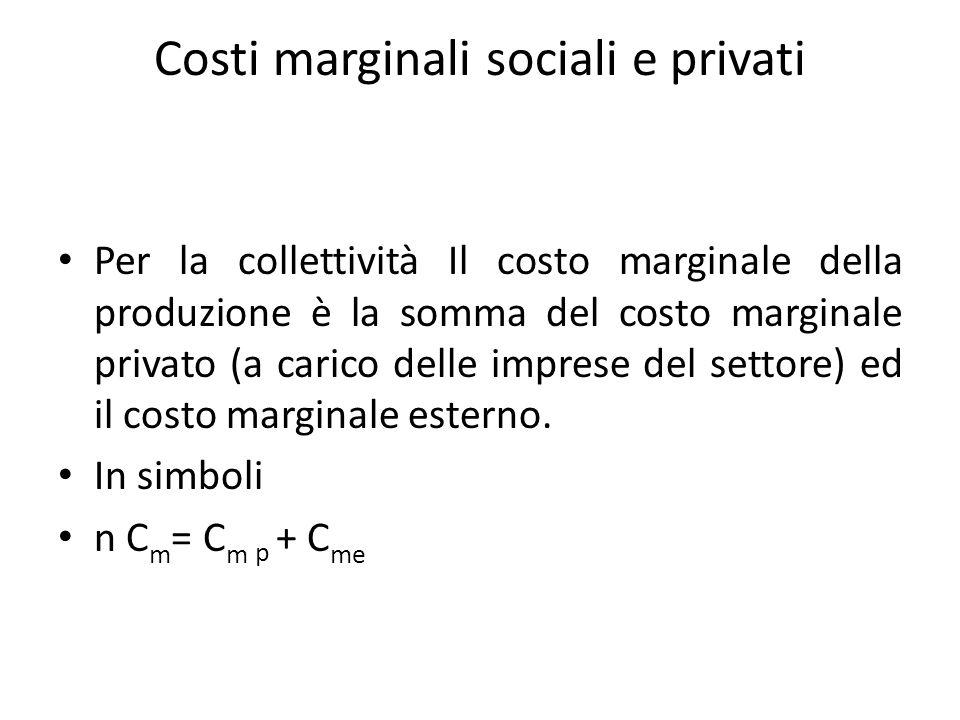 Costi marginali sociali e privati