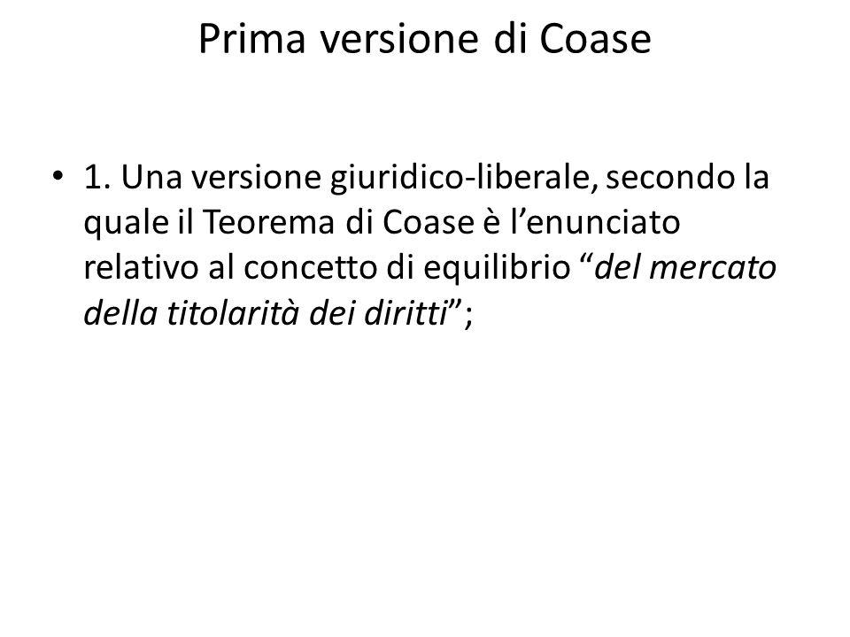 Prima versione di Coase