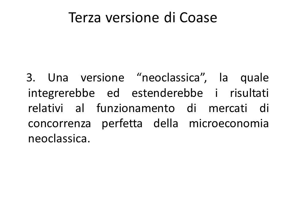 Terza versione di Coase
