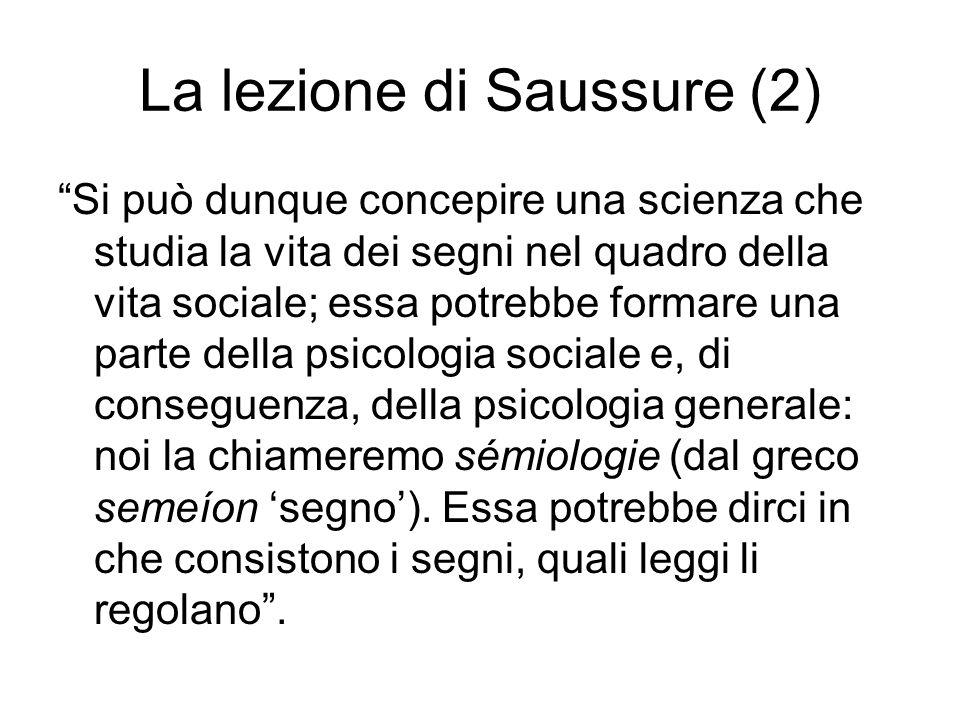 La lezione di Saussure (2)