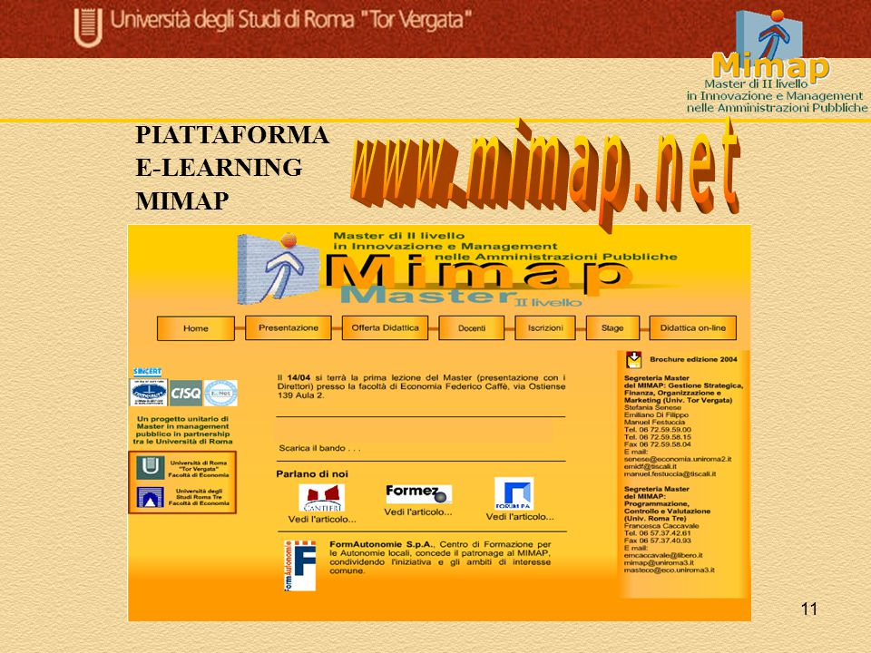 PIATTAFORMA E-LEARNING MIMAP www.mimap.net