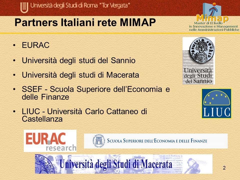 Partners Italiani rete MIMAP