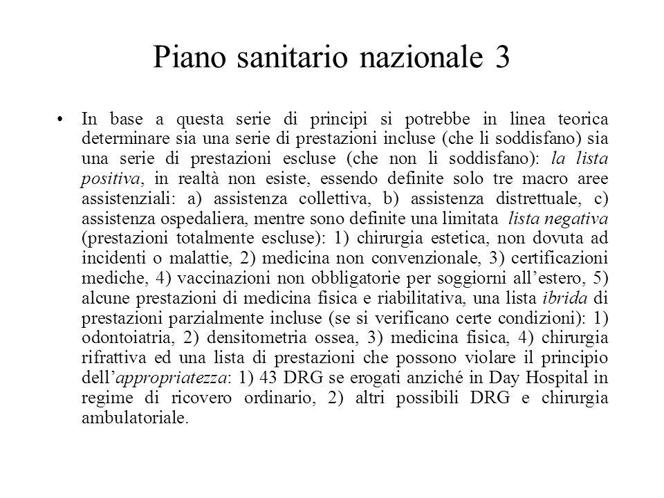 Piano sanitario nazionale 3