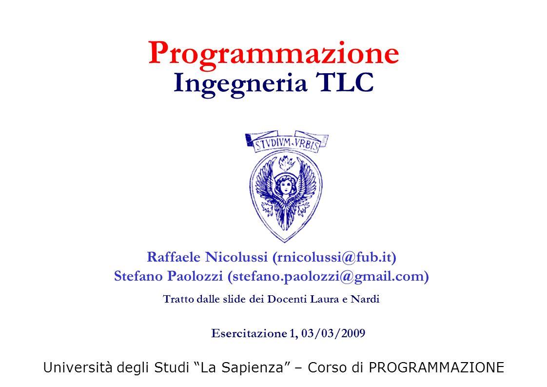 Programmazione Ingegneria TLC