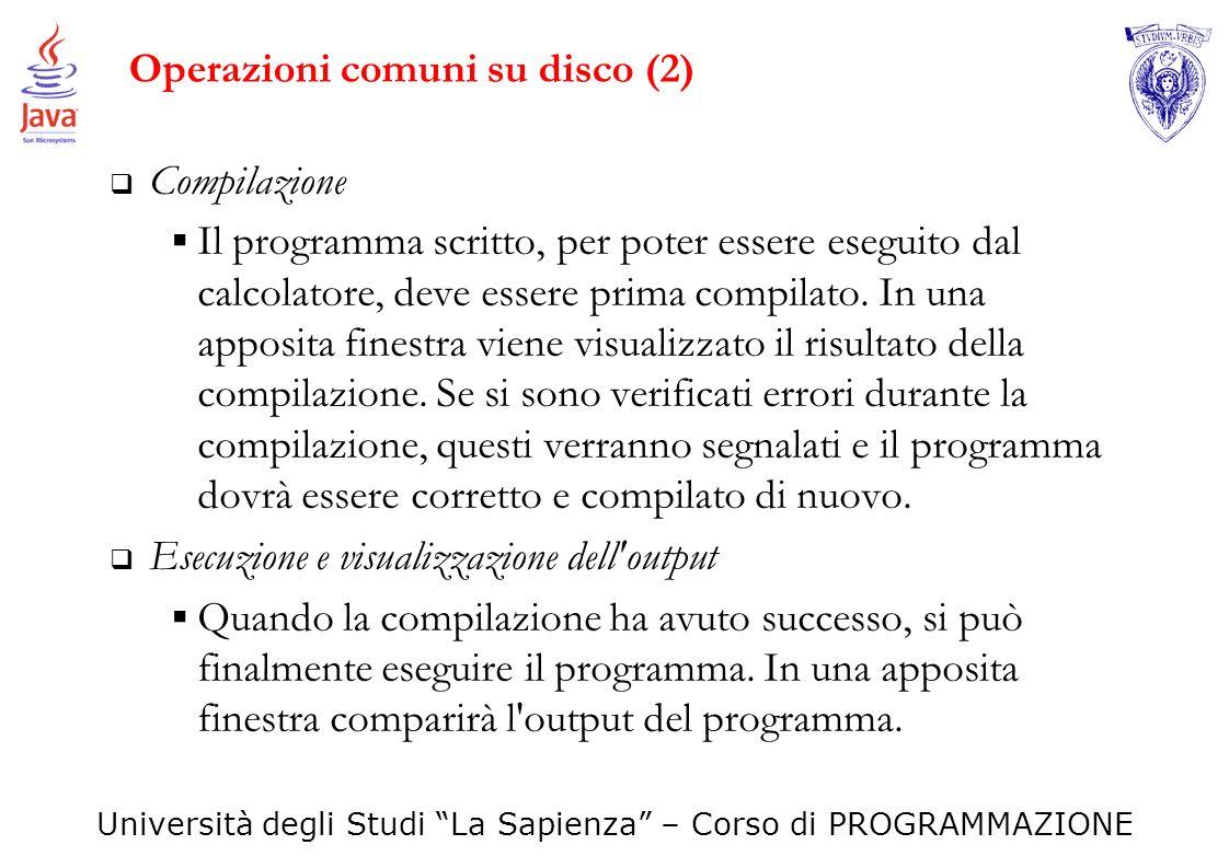 Operazioni comuni su disco (2)