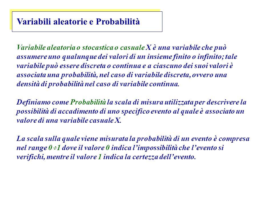 Variabili aleatorie e Probabilità