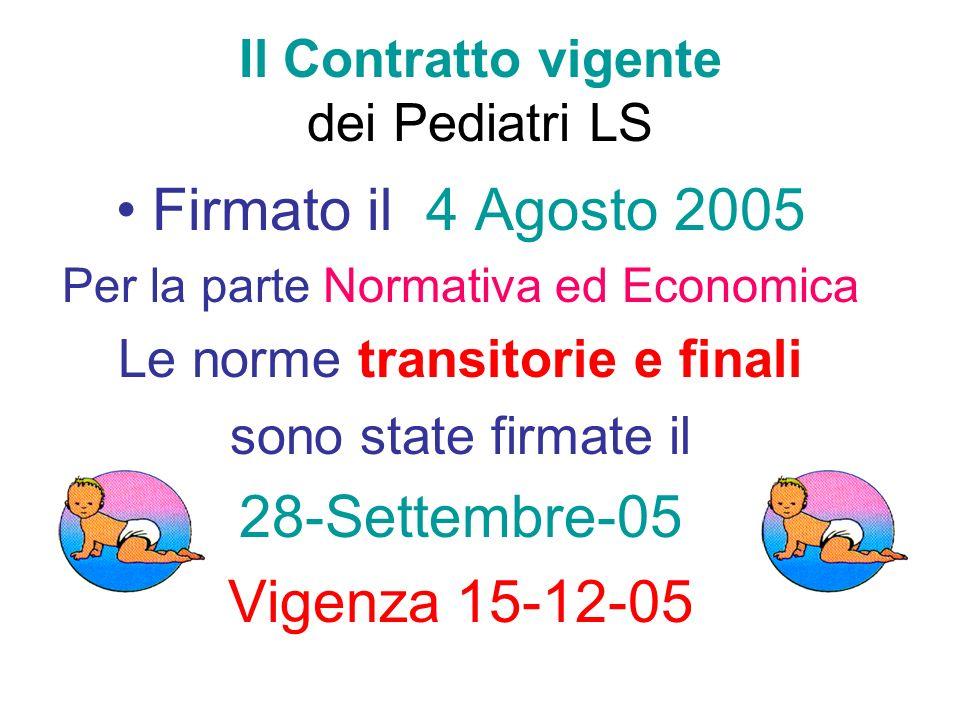 Il Contratto vigente dei Pediatri LS