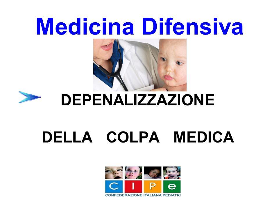 DEPENALIZZAZIONE DELLA COLPA MEDICA