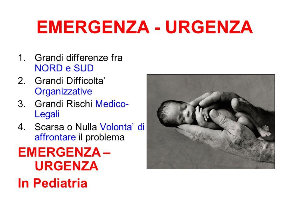 EMERGENZA - URGENZA EMERGENZA – URGENZA In Pediatria