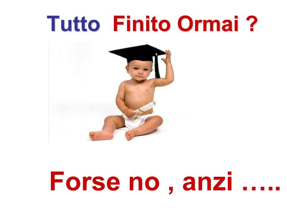 Tutto Finito Ormai Forse no , anzi …..