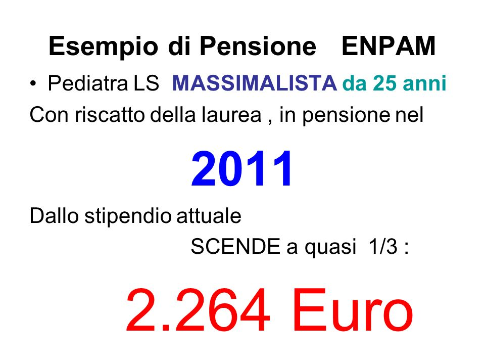Esempio di Pensione ENPAM